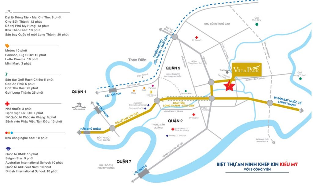 vị trí dự án Villa Park