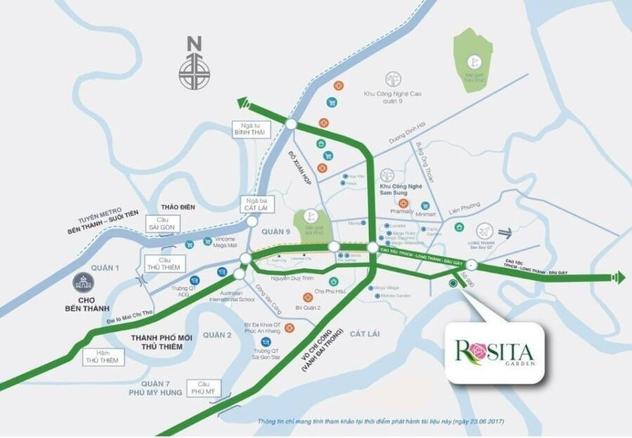vị trí Rosita Garden quận 9