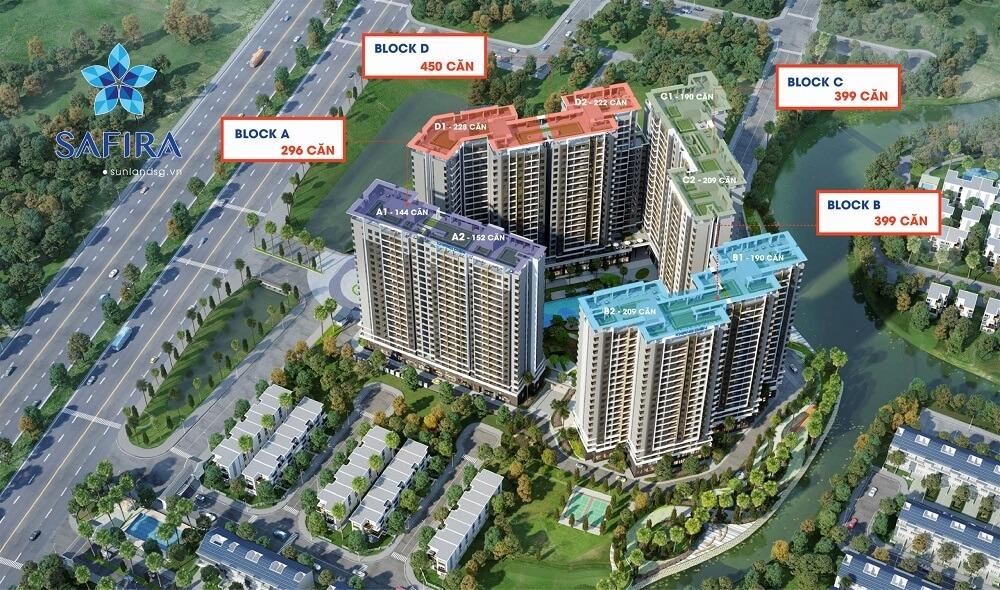tổng thể dự án căn hộ safira khang điền
