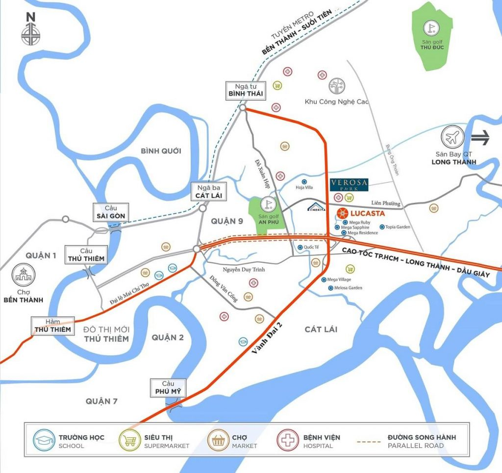 vị trí Verosa Park Khang Điền